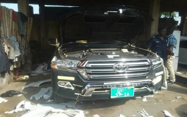 Missing State vehicle retrieved from spraying shop at Kwabenya