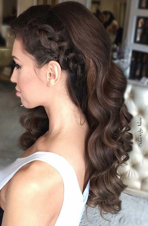 Simple Prom Hairstyles For Curly Hair 2018 Cool Prom