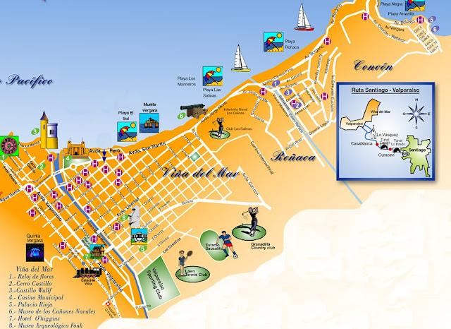 Mapa turístico de Viña del Mar
