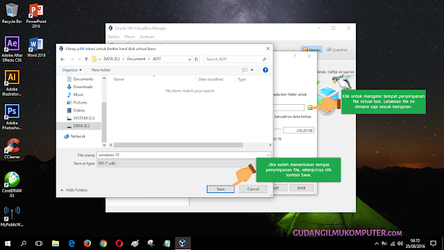 Belajar Menginstal Windows 10 Di VirtualBox