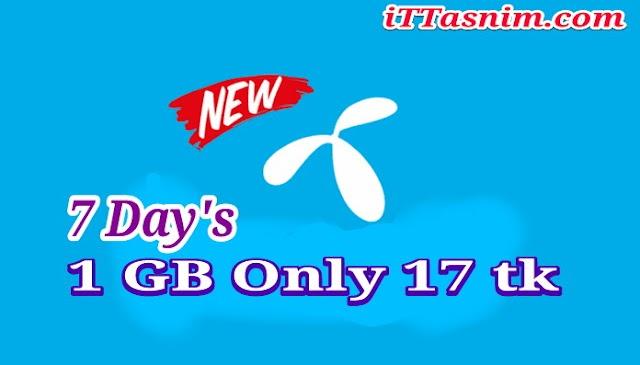 Gp 1 GB 17 Taka | 7 Day's | Gp internet offer 2018