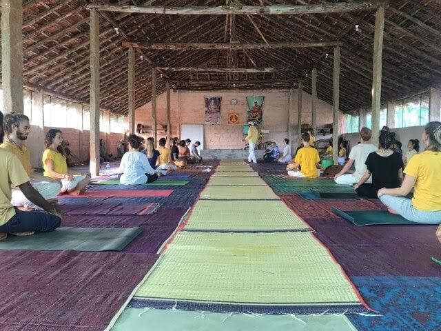 Inteyoga ashram yoga hall