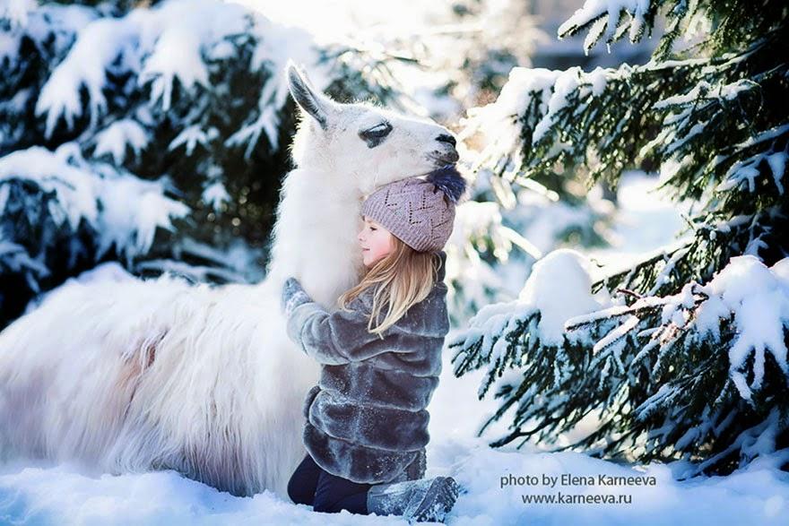 children and animal playing elena karneeva-5