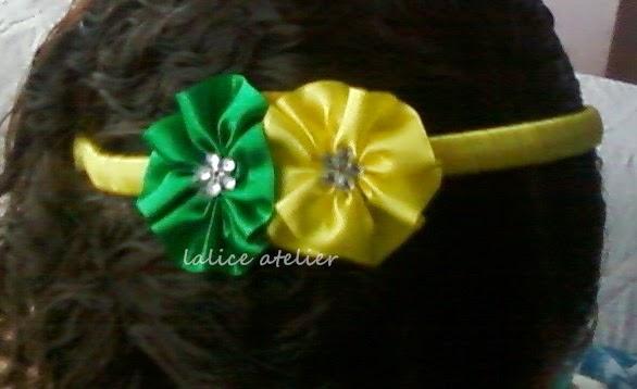 faixa cabelo, tiara, verde amarelo, copa mundo, seleção brasileira, seleção canarinha, acessórios verde amarelo