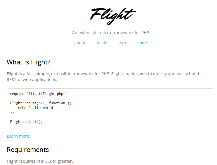 Flight Framework