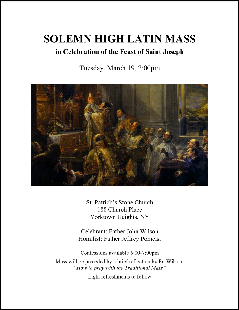 Il Regno: Solemn High Latin Mass in Celebration of the Feast