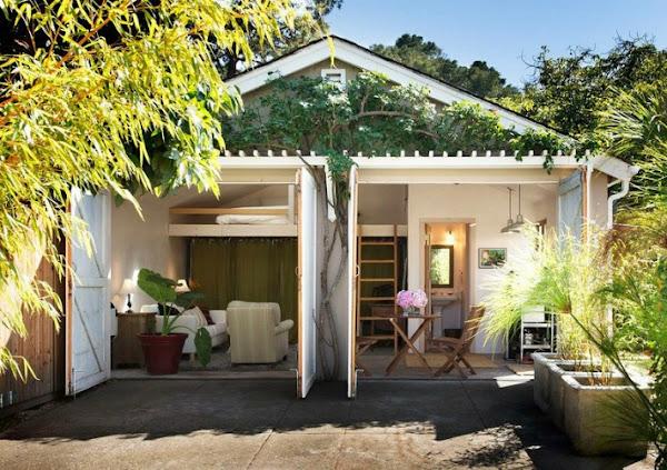 Minicasa un garaje convertido en cottage decoraci n for Decoracion de mini apartamentos