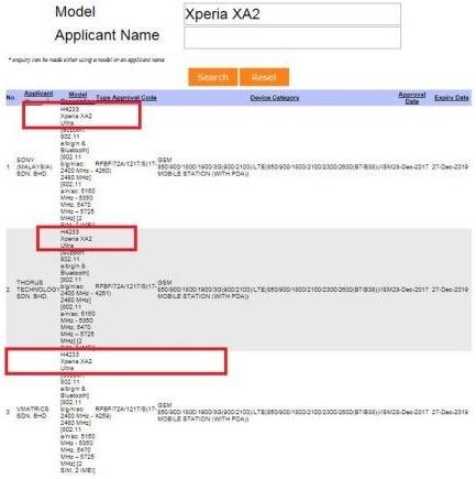 2018 Sony Xperia XA2 Ultra .