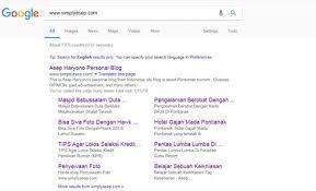BERJAYA : Nama domain www.simplyasep.com sudah mendapat Crawling dan sudah di INDEX oleh Google. Setelah vakum sebulan langsung terjungkal trafficnya. Perlu kerja keras untuk menormalkan kembali.