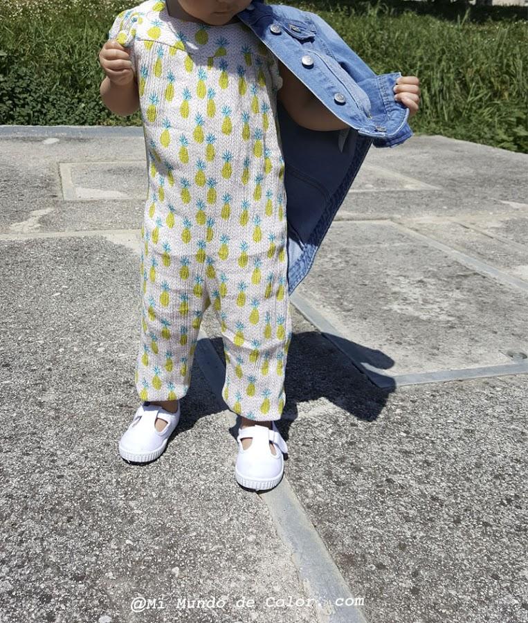 enterizo zara kids y chaqueta jeans kiabi look niñas