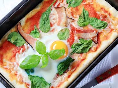 بيتزا البيض السريعة