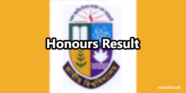 NU Honours 2nd Year Result 2017 Bangladesh