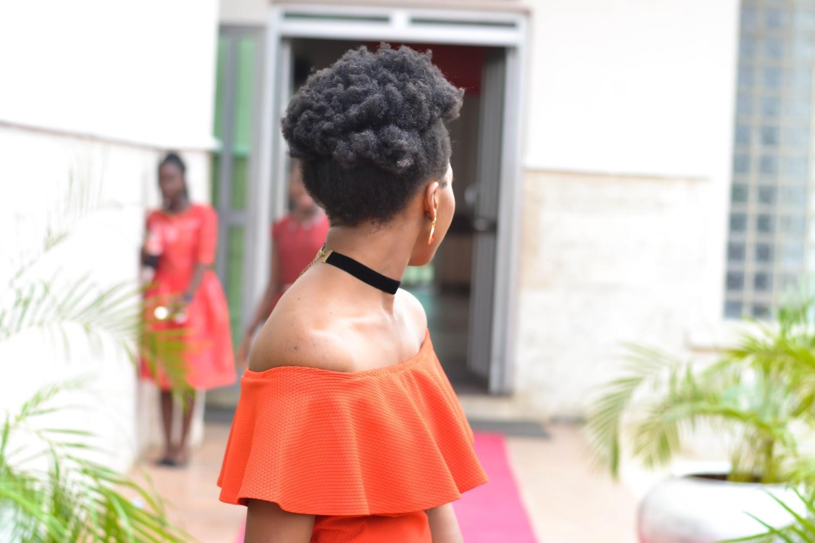 Black Velvet Choker & Luscious Afro