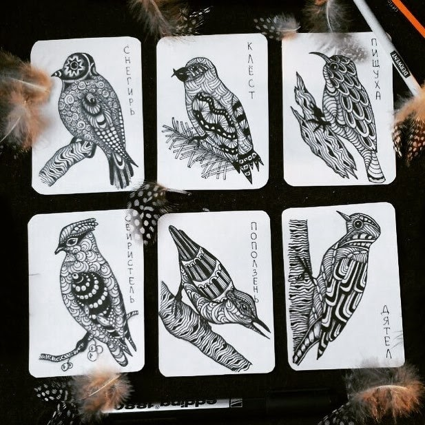 02-Detailing-Birds-hello_zenart-Different-Styles-and-uses-for-the-Zentangle-Pattern-www-designstack-co
