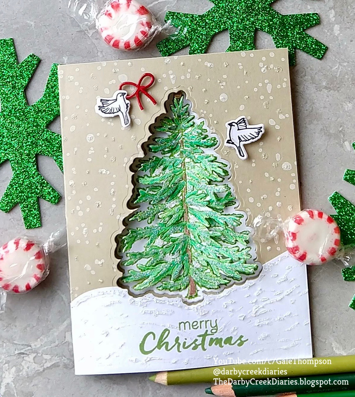 The Darby Creek Diaries: Oh Christmas Tree! How to Make a 3D Tree Card