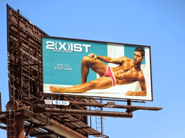 Andre Ziehe 2Xist Beach Stripe underwear Summer 2014 billboard