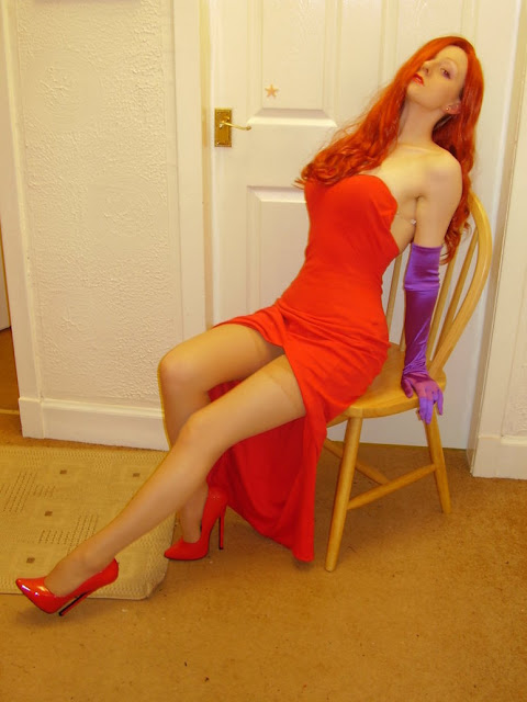 posing jessica rabbit costume