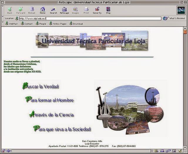 Der Webbrowser Netscape Navigator im Jahr 1999.