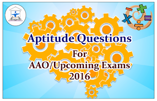 Aptitude Questions (Inequality) for AAO and Upcoming Exams