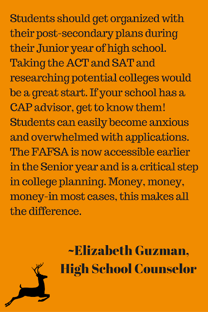 Understanding the FAFSA and College Admissions local counselor quote