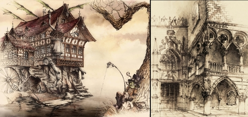 00-Elwira-Pawlikowska-Gothic-and-Steampunk-style-Architecture-with-Ink-and-Watercolor-Illustrations-www-designstack-co