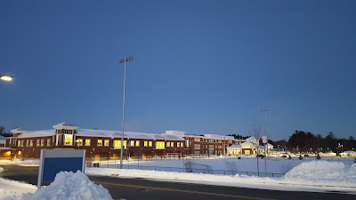 a snow covered view of FHS