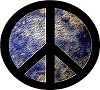 Blog4Peace logo, peace, peace globe, blue marble