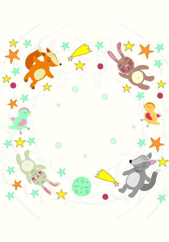Caratula para cuaderno de conejos