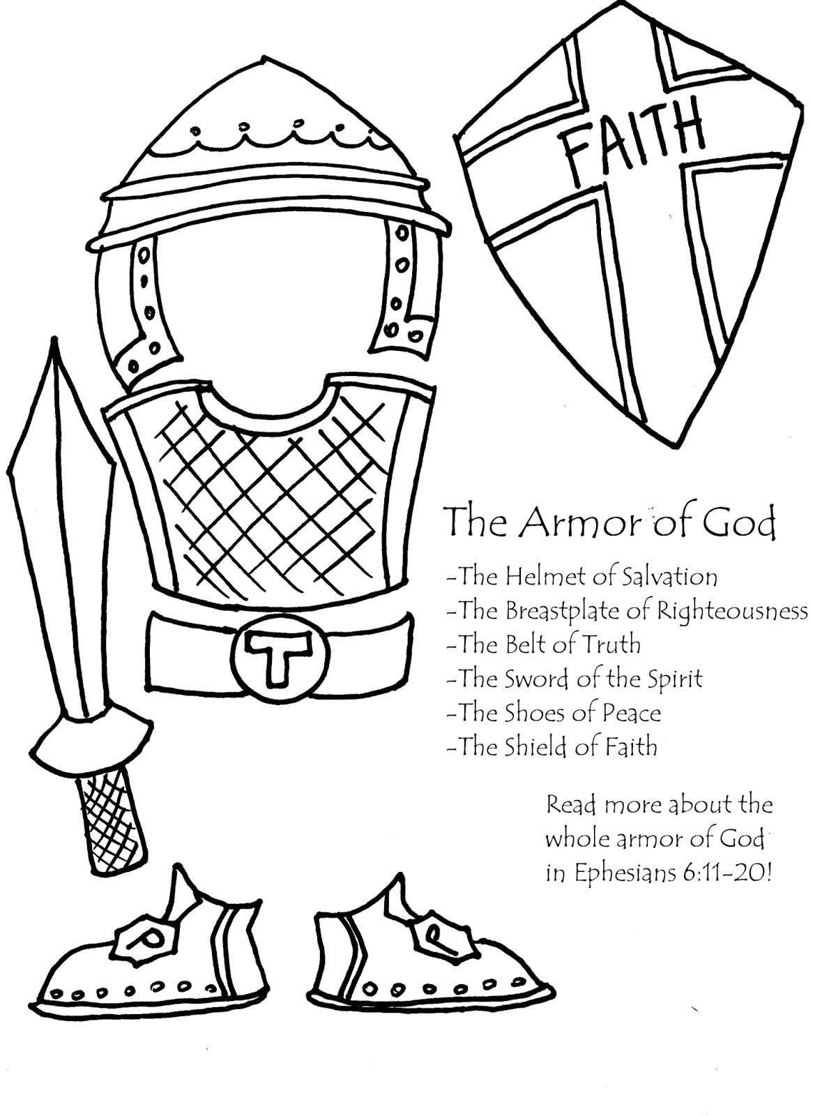 armor coloring pages | Young Women Inspiration: I can be pure and righteous~Lesson 38