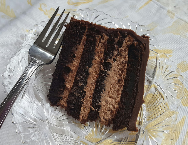 Irish Cream Mousse Chocolate Cake