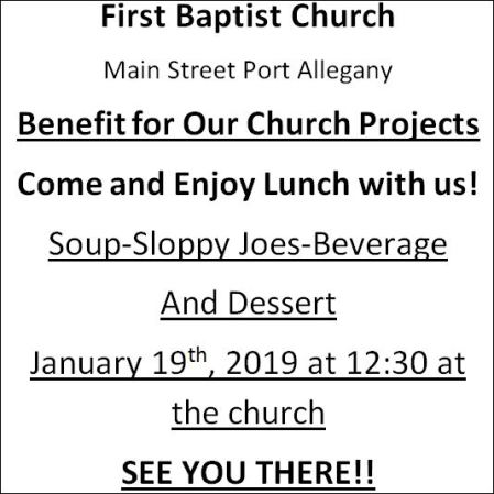 1-19 Lunch at the First Baptist Church