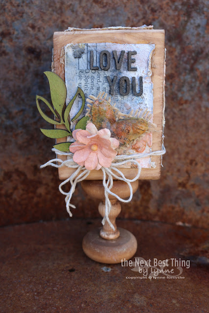Mixed Media Chunky ATC featuring UmWowStudio Chippies