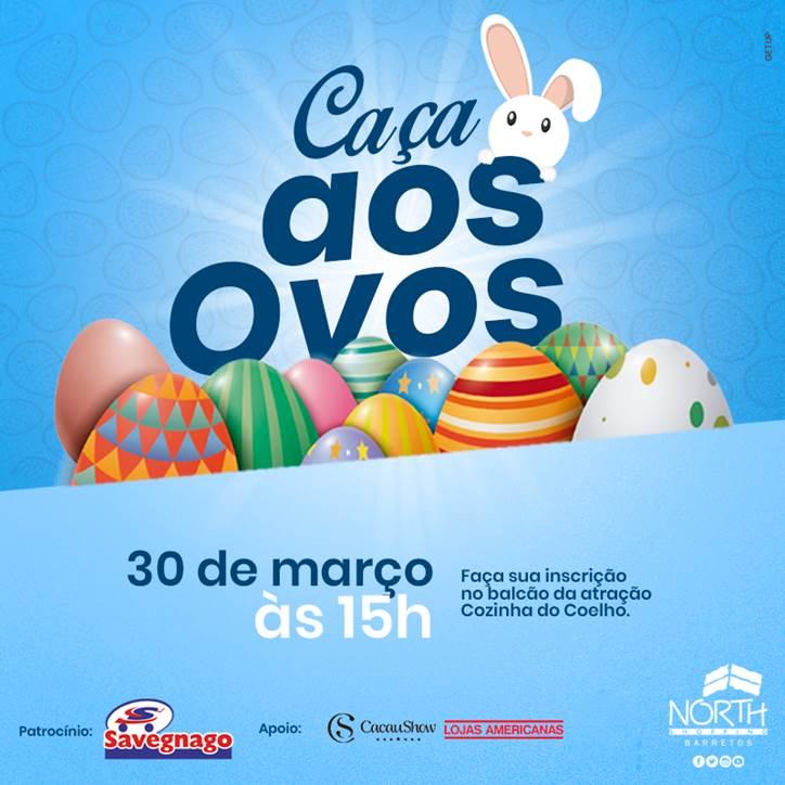 Caça aos ovos de chocolate, a brincadeira que virou tradição acontece nesta sexta no North Shopping