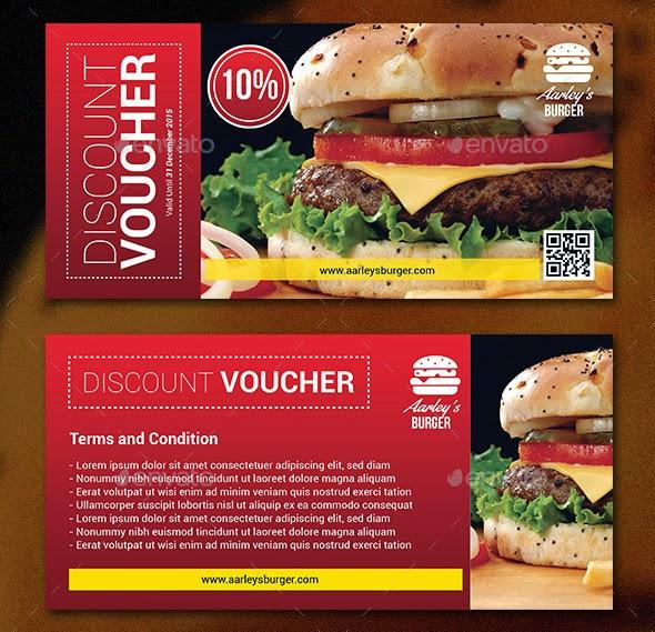 3 Amazing Restaurant Vouchers PSD Templates - Only Best Graphic - food voucher template