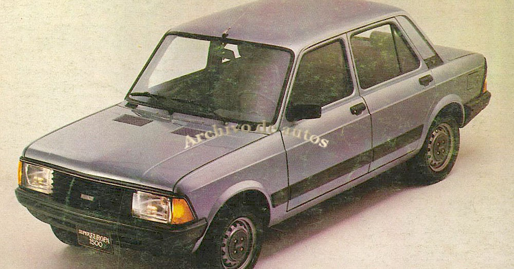 Archivo De Autos  Fiat Super Europa 1500 1983