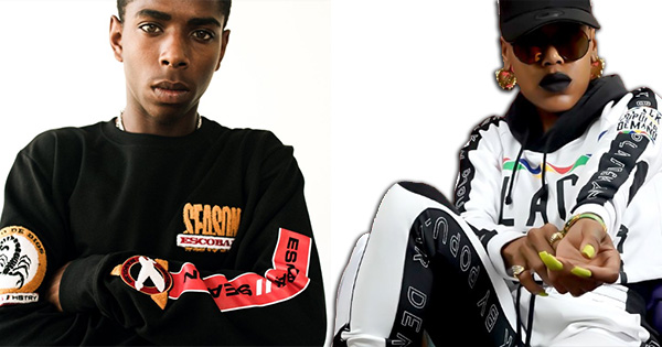 Models wearing Black-owned clothing lines