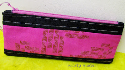 An Atkinson Design Pouch made for Bayou Creations by Marty Mason