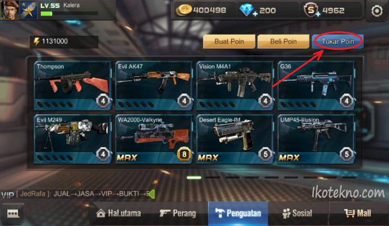 GAME:V: Cara Mendapatkan Senjata Keren di Game Crisis Action Tanpa VIP