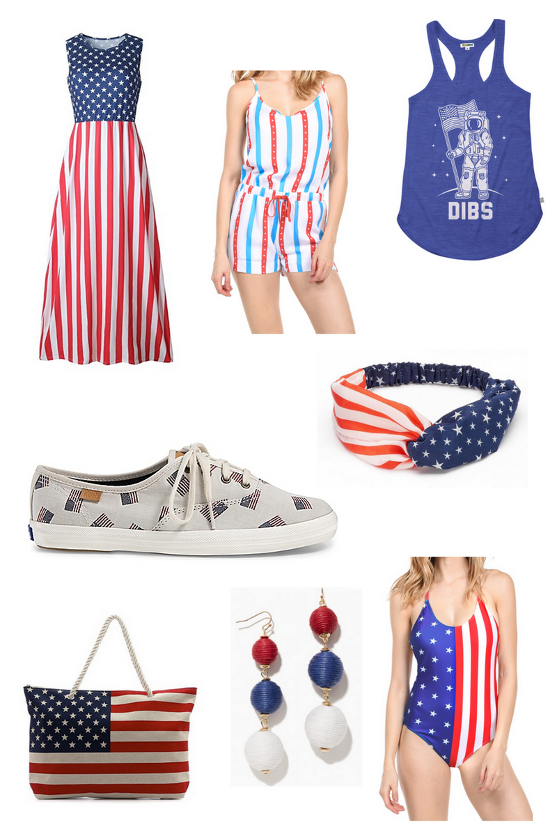 red white and blue fashion and style