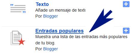 Como cambiar de estilos a mis Entradas Populares de blogger