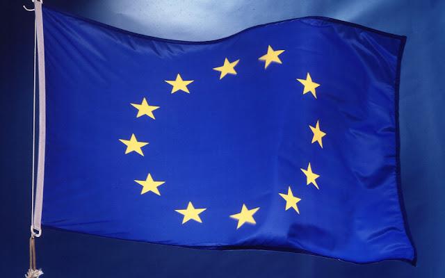 Foto met de vlag van Europa. HD EU wallpaper