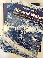 Air and Water: The Biology and Physics of Life's Media, by Mark Denny, superimposed on Intermediate Physics for Medicine and Biology.