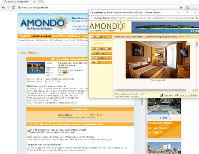 Reisebuchung Nordzypern Hotel nahe Famagusta