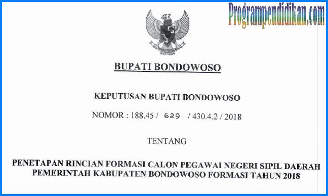 formasi cpns bondowoso 2018