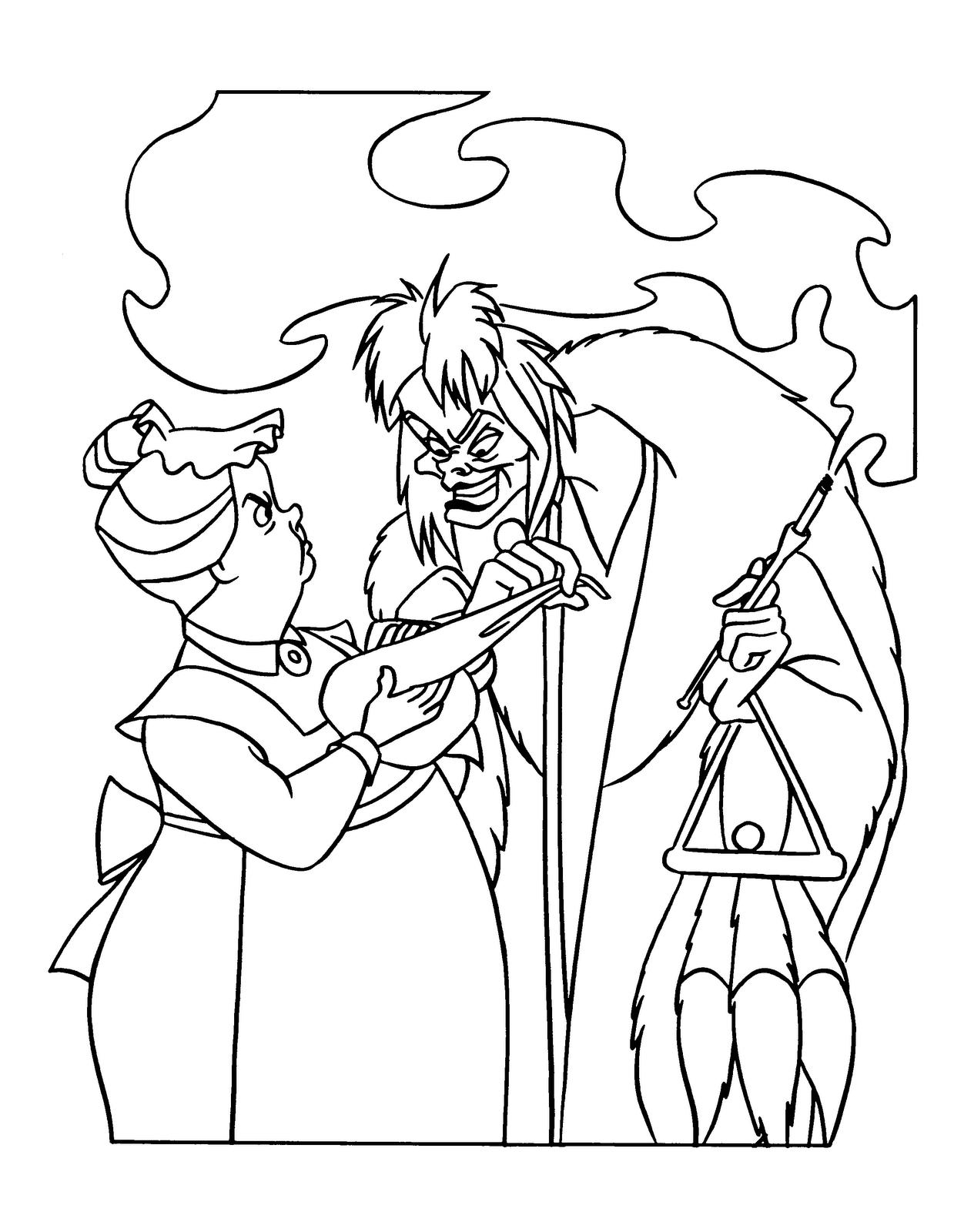 Cruella Deville Coloring Page - Democraciaejustica