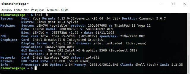 Linux Command Inxi -b