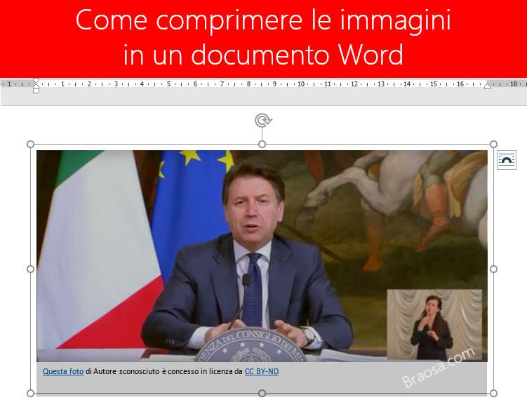 Come comprimere le immagini in Microsoft Word