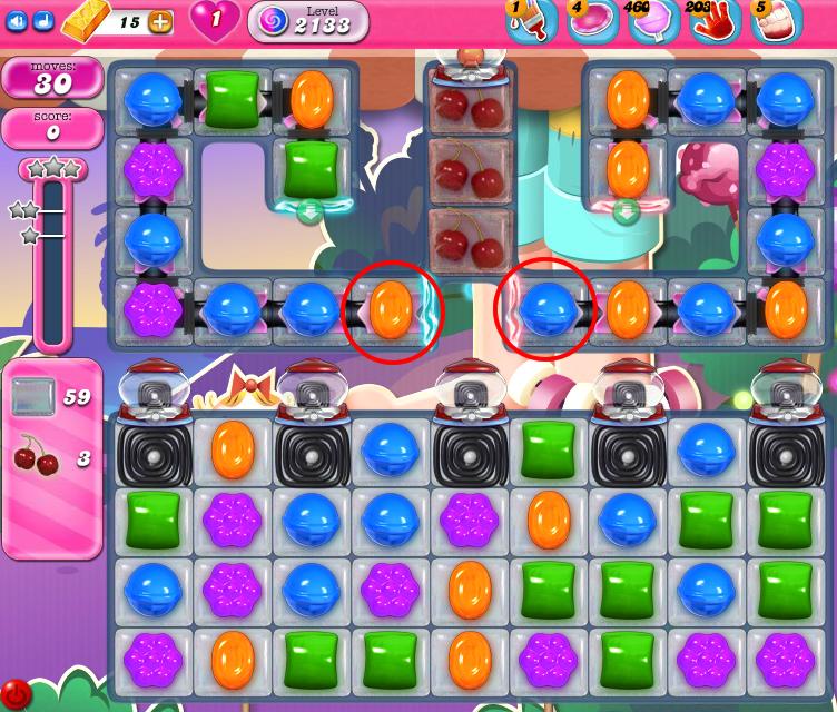 Candy Crush Saga level 2133