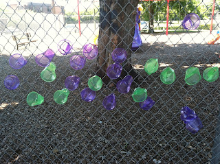 Plastic Cups in Fence Art (Brick by Brick)