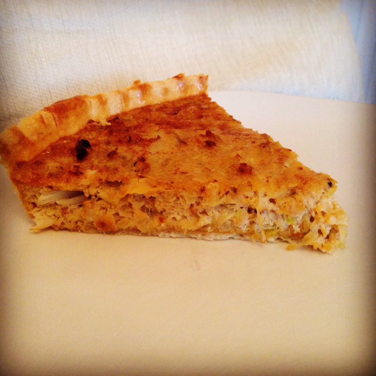 Crab Tart with Leeks & Gruyere Cheese